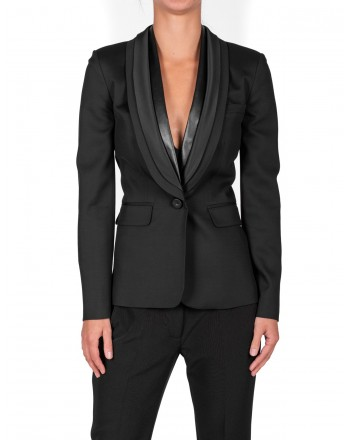 PINKO - OSCAR Jacket in glossy wool - Black