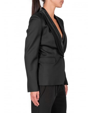 PINKO - OSCAR Jacket in glossy wool - Black