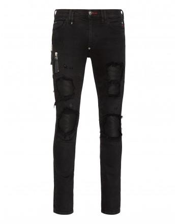 PHILIPP PLEIN - Denim 5 Pockets Trousers MDT2459 - Dark Side