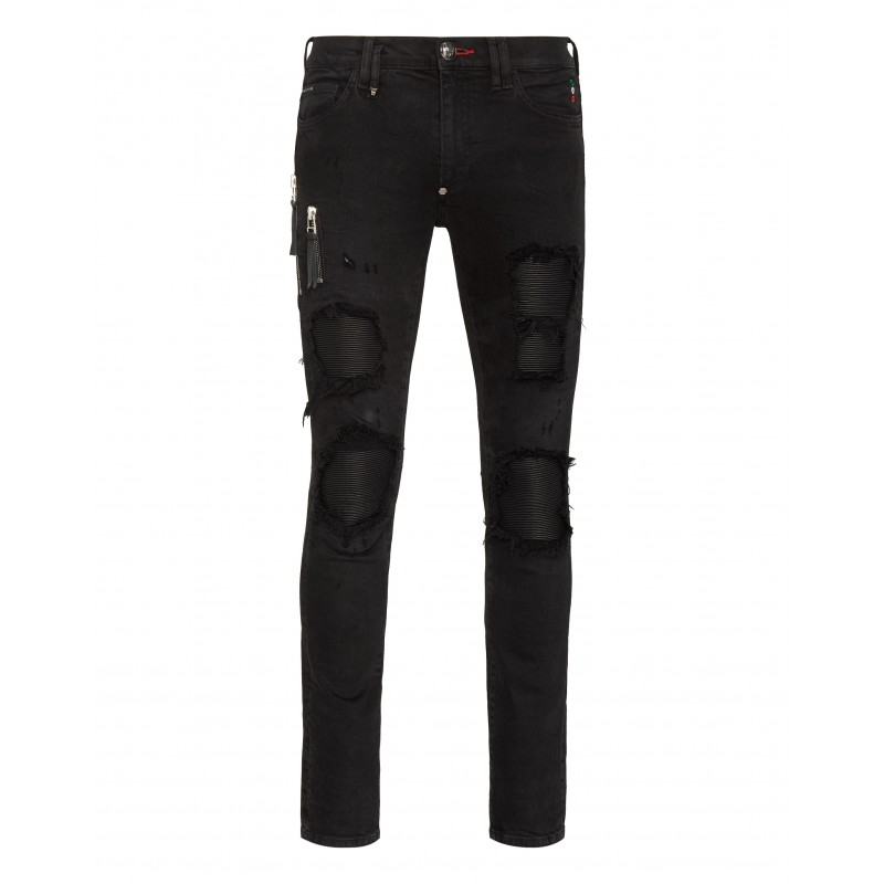 PHILIPP PLEIN - Pantalone 5 Tasche Denim MDT2459 - Dark Side