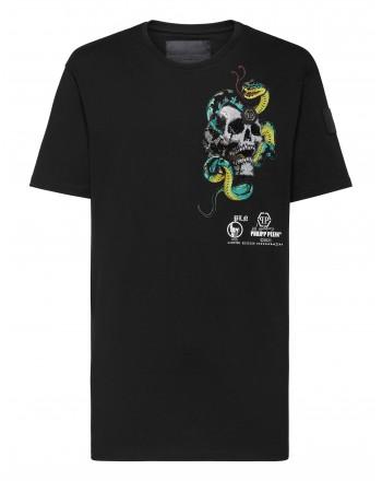 PHILIPP PLEIN- TATTOO Round Neck T-Shirt MTK5078 - Black
