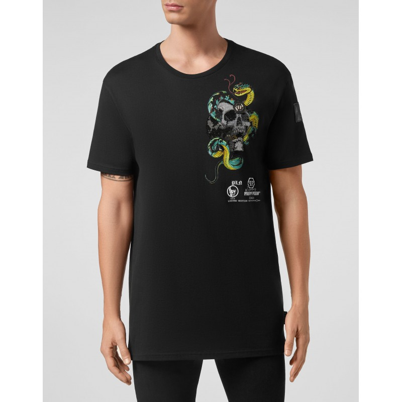 PHILIPP PLEIN- T-Shirt Girocollo TATTOO MTK5078 - Nero