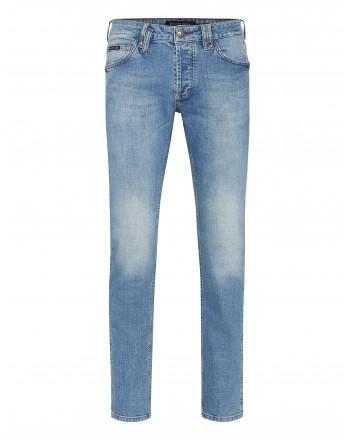 PHILIPP PLEIN - 5 Pockets Denim Strech Trousers MDT2500 - Denim