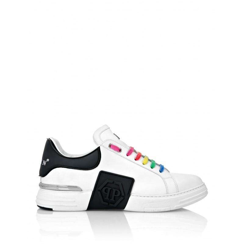 PHILIPP PLEIN - Sneakers Pelle e Gomma MSC3056 - Bianco