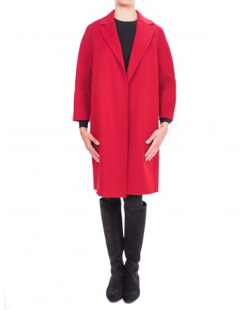 MAX MARA STUDIO - Short Arona Wool coat - Red