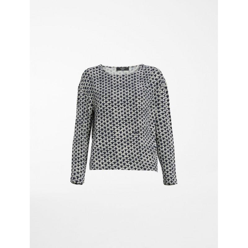 WEEKEND MAX MARA -  NAVE Viscose Jersey T-Shirt-  WE5941061706- Blue