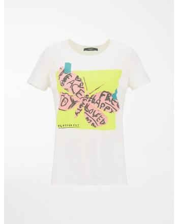 WEEKEND MAX MARA - T-Shirt in Cotone SELVA WE597101110  - Bianco