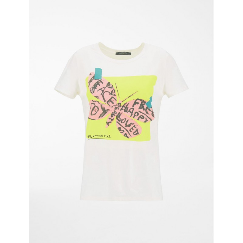WEEKEND MAX MARA - SELVA Cotton T-Shirt  WE597101110 -White