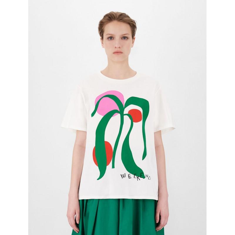 WEEKEND MAX MARA - LIBIA Printed T-Shirt  WE597102110 - White
