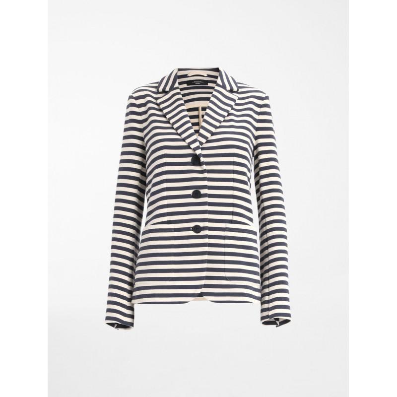 WEEKEND MAX MARA -  PANAY Cotton Jersey Blazer WE591103170- Blue/Greggio