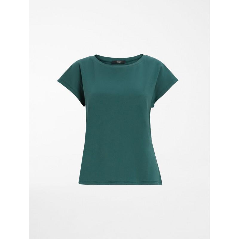 WEEKEND MAX MARA -  MULTIE Cotton T-Shirt WE594117110 - Palm Green