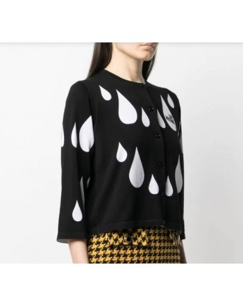 LOVE MOSCHINO - Cardigan with jacquard motif  WSH8611 - Black