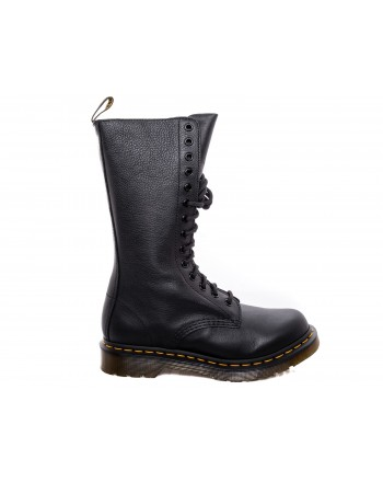 DR. MARTENS - Stivali alti VIRGINIA in Pelle  - Nero
