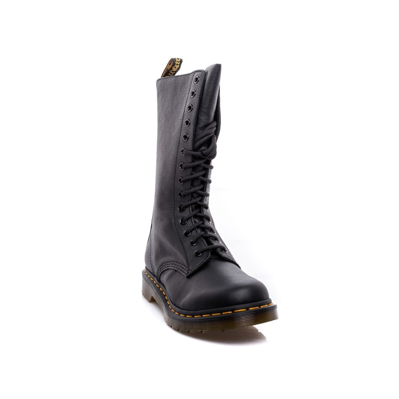 DR. MARTENS - Leather Laces Boots VIRGINIA - Black