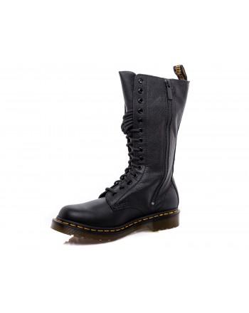 DR. MARTENS - Leather Laces Boots VIRGINIA - Black