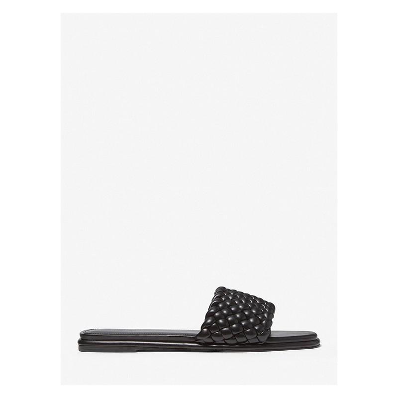MICHAEL BY MICHAEL KORS - Amelia braided slide 40S1AMFA1L - Black