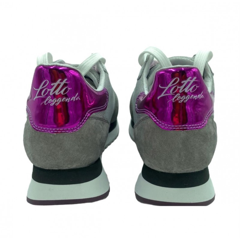 LOTTO LEGGENDA - Sneaker WEDGE 216295 7SK - Grigia/Bianca/Fucsia -
