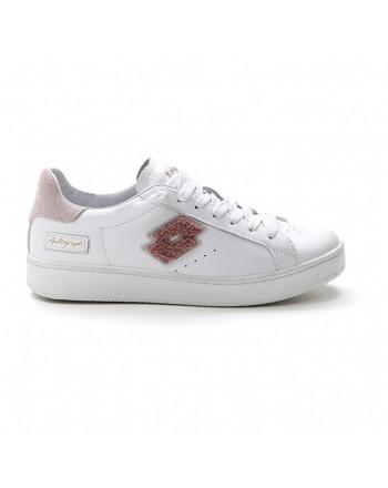 LOTTO LEGGENDA - Sneakers  AUTOGRAPH 216280  - Bianca/Logo Rosa  -