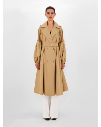 MAX MARA - EMPOLI Cotton Popeline Trenchcoat  112102120 - Camel