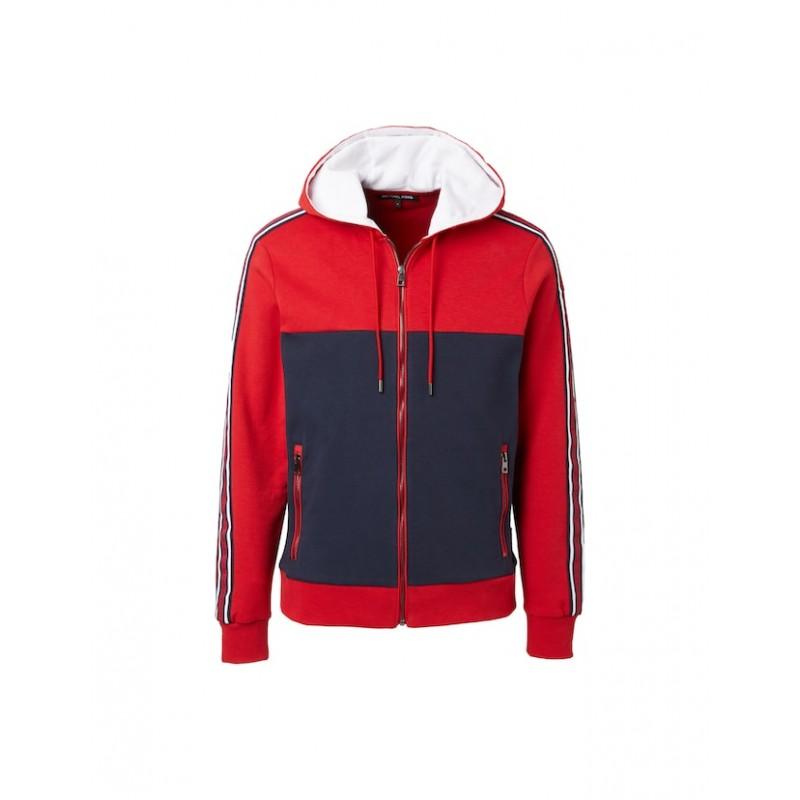 MICHAEL by MICHAEL KORS - Mix Media hoodie CS1504L5MF606 - Red / Blue -