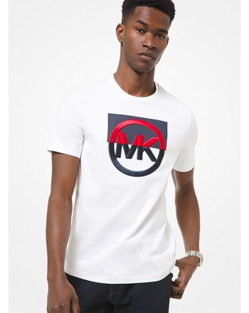 MICHAEL by MICHAEL KORS - Cotton T-shirt with embroidered logo CS1507C1V2 - white -