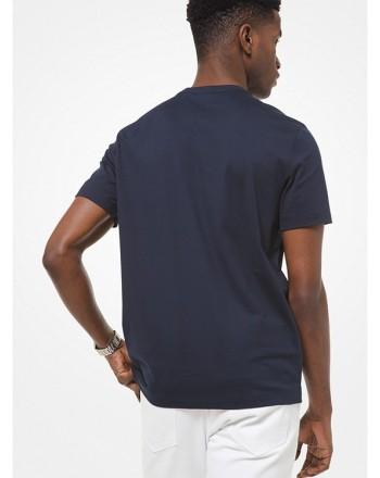 MICHAEL by MICHAEL KORS - T-shirt in cotone con logo ricamato CS1507C1V2 - Blu -