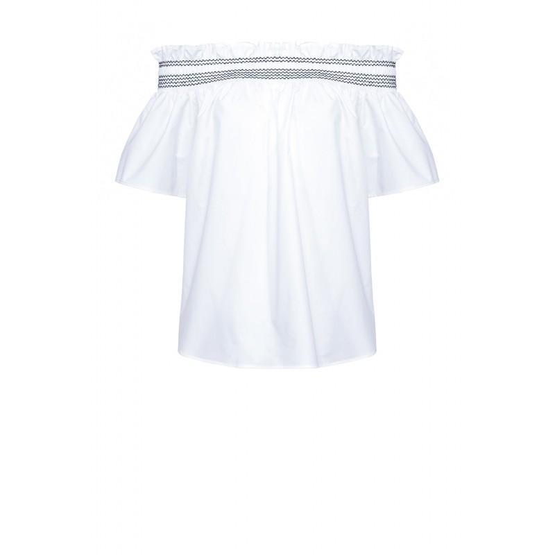 PINKO - Istruito Blusa - Bianco/Nero