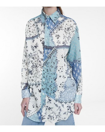 ETRO - Floral print shirt - Sky
