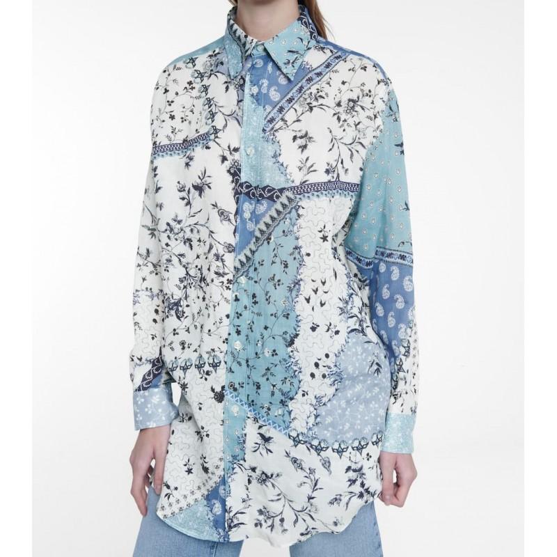 ETRO - Camicia a stampa floreale - Cielo