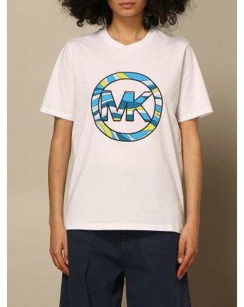 MICHAEL BY MICHAEL KORS - T-Shirt Half sleeve crew neck logo MS1501N97J - White