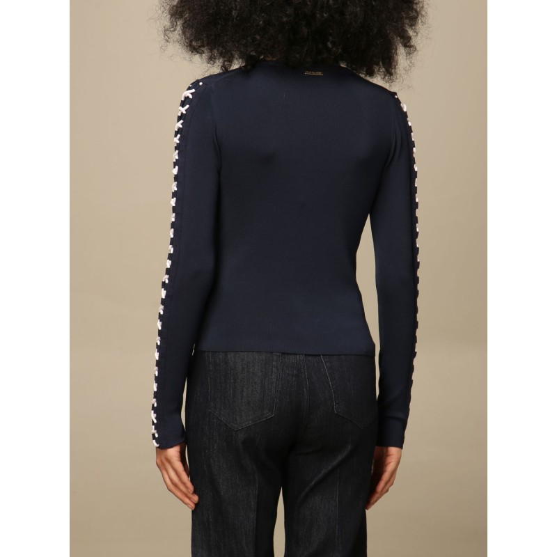 MICHAEL BY MICHAEL KORS - Sweater with criss cross MS1600WBVC - Midnight