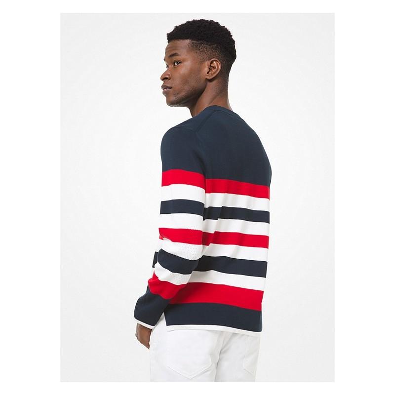 MICHAEL by MICHAEL KORS - Striped crewneck sweater CS1600H1SQ511 - Blue -