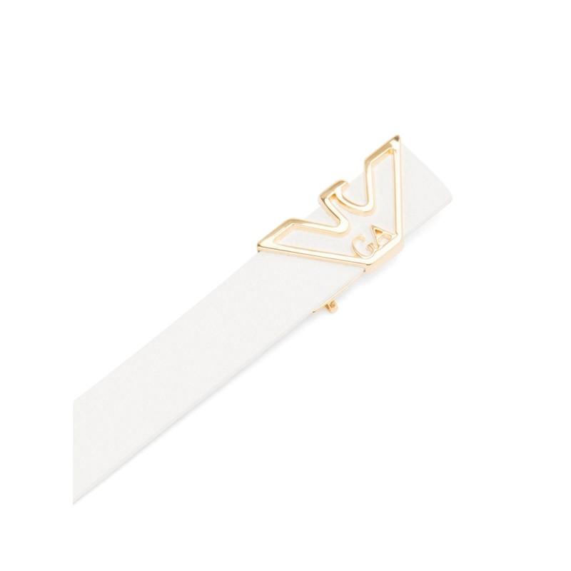EMPORIO ARMANI - Eagle Buckle  Belt Y3I048 - White