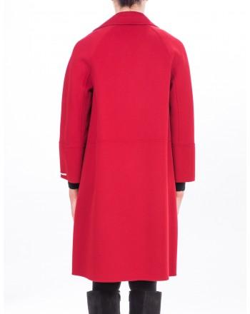 MAX MARA STUDIO - Short Arona Wool coat - Red