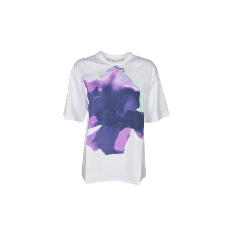SPORTMAX - AEROSO Cotton T-Shirt SP297102110 - White/Purple