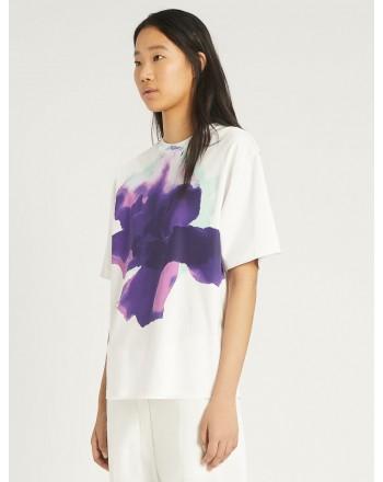 SPORTMAX -T-Shirt in Cotone AEROSO  SP297102110 - Bianco/Viola