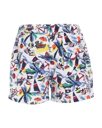 POLO RALPH LAUREN - Multicolor print swim shorts 710837406001 - Hawai -