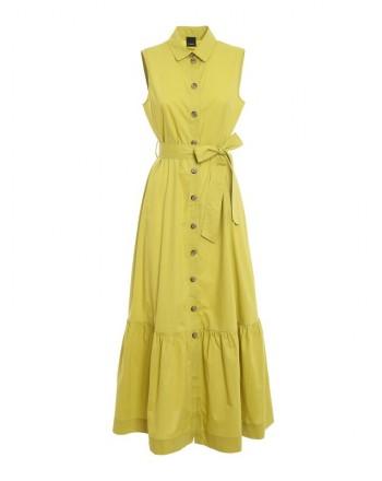 PINKO - Sfrontato 2 dress- Lime