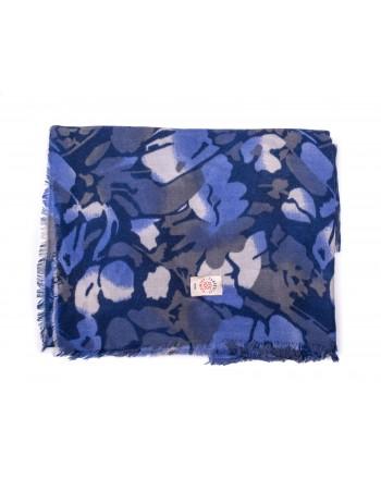 CAMERUCCI - Stola ORTENSIA in pura Lana - Blu/Azzurro