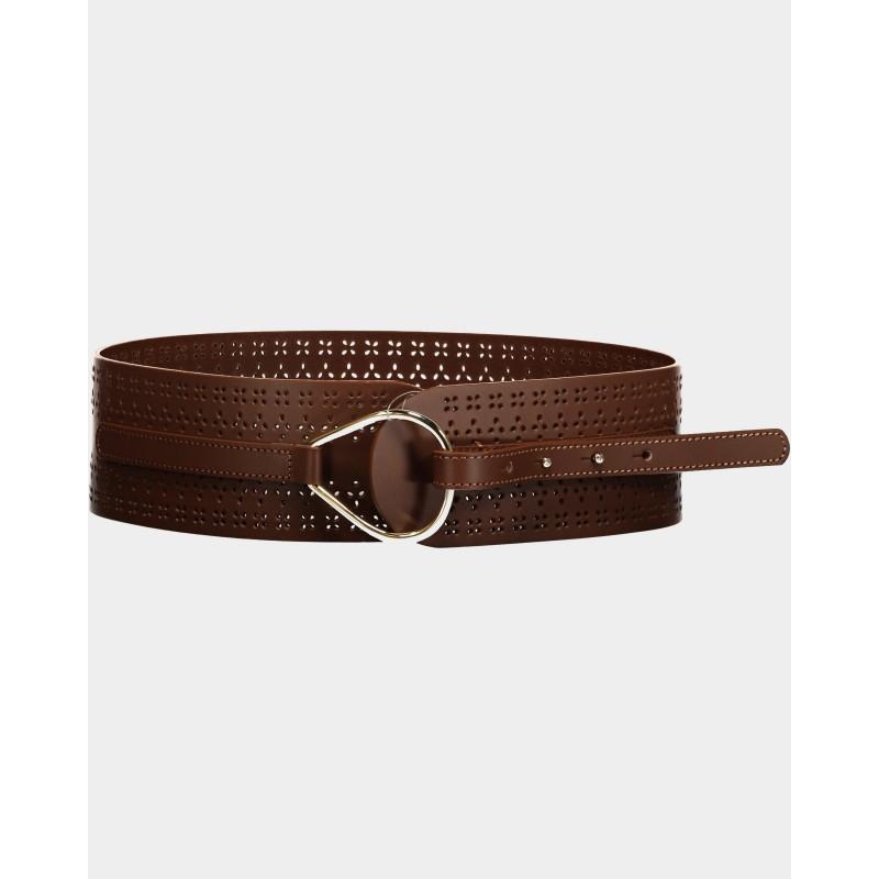 MAX MARA STUDIO  - BOLIVIA Leather Belt 6501011 -Tobacco