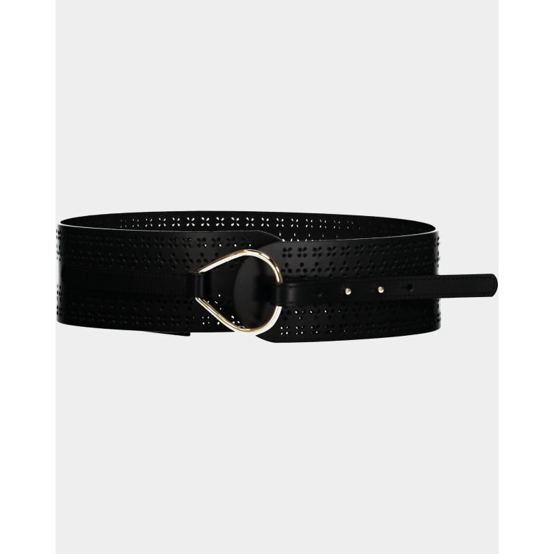 MAX MARA STUDIO  - BOLIVIA Leather Belt 6501011 -Black
