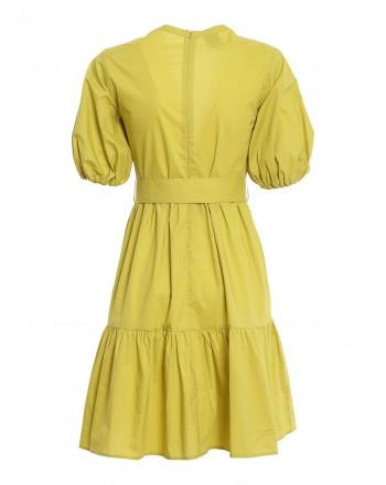 PINKO - Nuvoloso dress - Lime