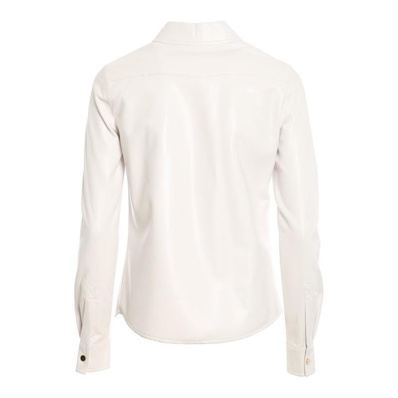 PINKO - Caroline 6 camicia similpelle - Bianco
