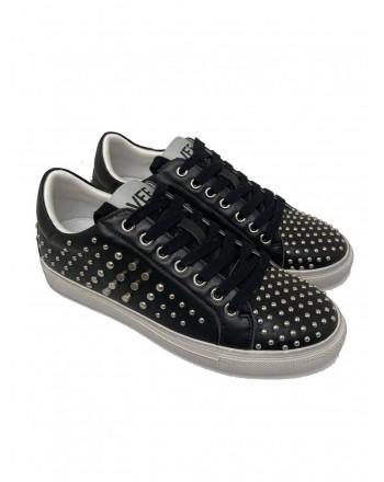 EMANUELLE VEE - Leather sneakers 411P - 803 - 13 - Black -