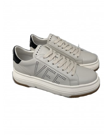 EMANUELLE VEE - Sneakers con Logo 411P800- Ivory/Nero