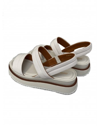EMANUELLE VEE - Sandal with Padded Band 411M 809-24 - White -