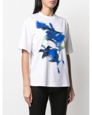 SPORTMAX - AEROSO Cotton T-Shirt SP297102110 - White/Blue
