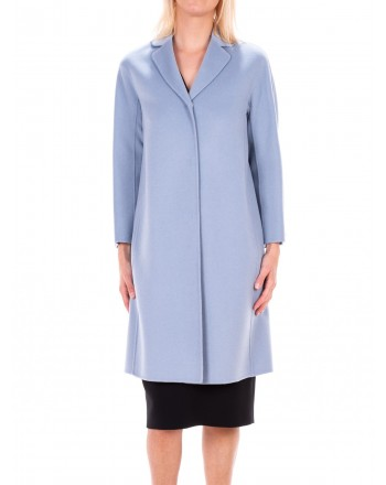MAX MARA STUDIO - TISBE coat in Pure New Wool  - Cielo