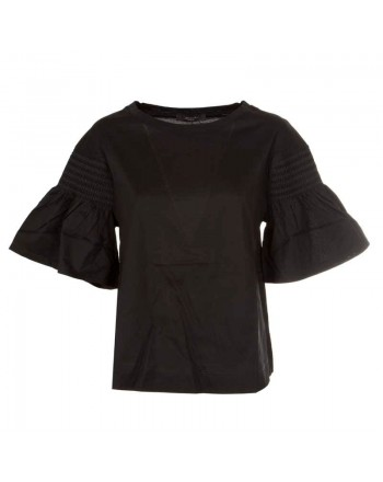 WEEKEND MAX MARA - VANESIO Cotton Jersey T-Shirt WE594114110  - Black