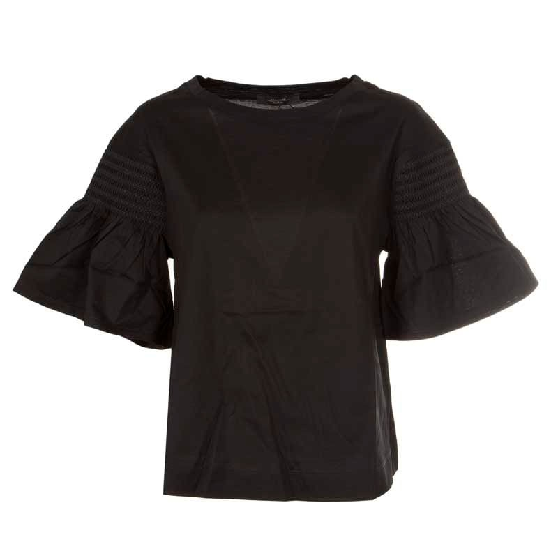 WEEKEND MAX MARA - VANESIO Cotton Jersey T-Shirt WE594114110  - Black